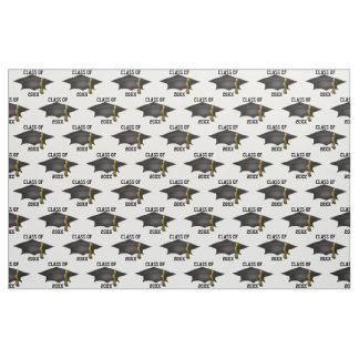 Classic Graduation Cap Class of 20XX Pattern Fabric