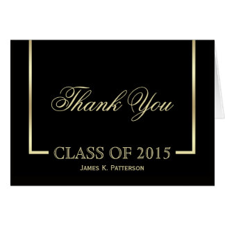 Classic Graduation Thank You Cards