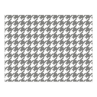 Classic Gray and White Houndstooth Pattern Postcard