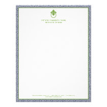 Classic Greek Key Pattern Door Knocker Blue/Green Letterhead