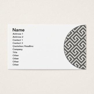 Classic Greek Key Repeating Pattern Business Card