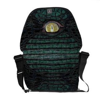 Classic Green Alligator Eye Bag #1 Messenger Bags