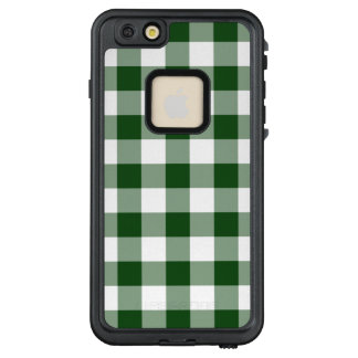 Classic Green and White Buffalo Plaid LifeProof® FRĒ® iPhone 6/6s Plus Case