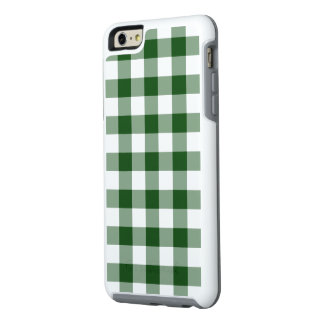 Classic Green and White Gingham Plaid OtterBox iPhone 6/6s Plus Case