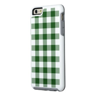 Classic Green and White Gingham Plaid