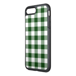 Classic Green and White Gingham Plaid OtterBox Symmetry iPhone 7 Plus Case