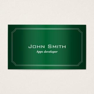 Classic Green Apps developer Business Card