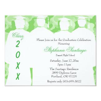 Classic Green Camo Elegant Graduation Invitation