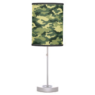 Classic Green Camouflage Table Lamp