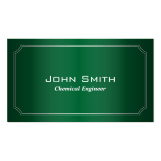 Classic Green Chemical Engineer Business Card