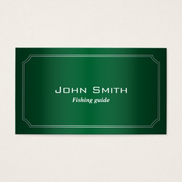 Professional Business Classic Green Fishing Guide Business Card