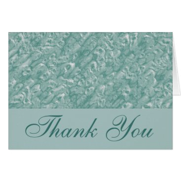 Professional Business Classic Green Marble Thank You Card