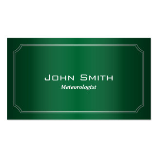 Classic Green Meteorological Business Card