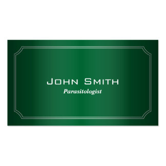 Classic Green Parasitology Business Card
