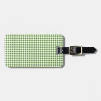 Classic Green Picnic Gingham Bag Tag