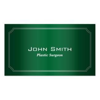 Classic Green Plastic Surgeon Business Card
