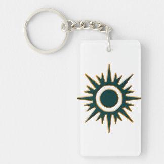 Classic Green Sunburst Keychain