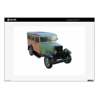 "Classic Green Woody Truck 15"" Laptop Skin"