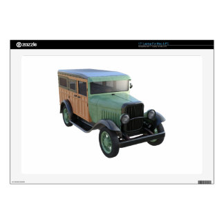 """Classic Green Woody Truck 17"""" Laptop Skins"""
