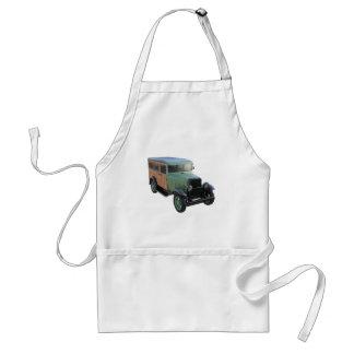 Classic Green Woody Truck Adult Apron