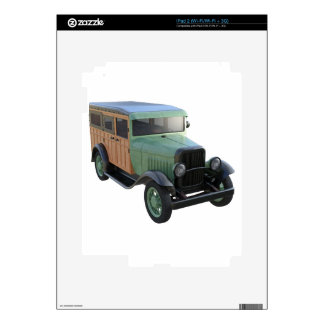 Classic Green Woody Truck Decal For iPad 2