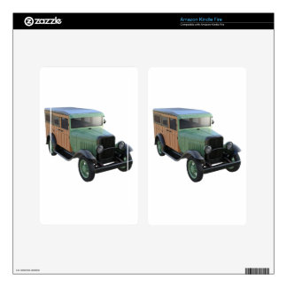 Classic Green Woody Truck Decal For Kindle Fire