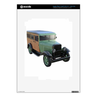 Classic Green Woody Truck Decals For iPad 3