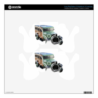 Classic Green Woody Truck PS3 Controller Decals