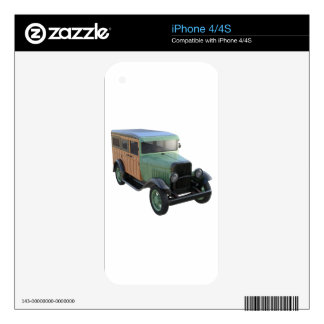 Classic Green Woody Truck Skins For iPhone 4S
