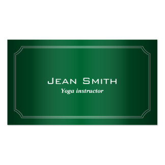 Classic Green Yoga instructor Business Card