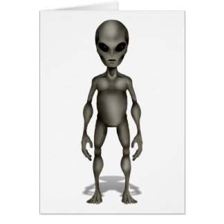 Classic Grey Alien Roswell Incident UFO Card