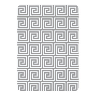 Classic Grey and White Greek Key Pattern 5x7 Paper Invitation Card