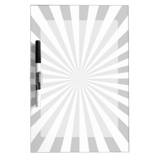 Classic Grey Burst Spinning Wheel Customize This! Dry-Erase Board