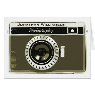 Classic Grey Camera Photography Business Card