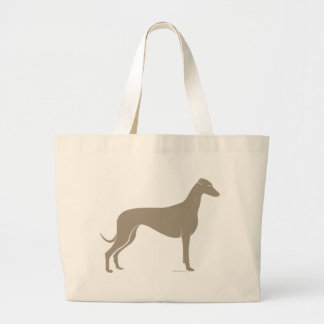 Classic Greyhound Silhouette Tote Bags