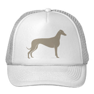 Classic Greyhound Silhouette Mesh Hats