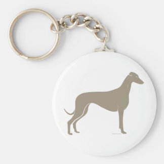 Classic Greyhound Silhouette Keychains
