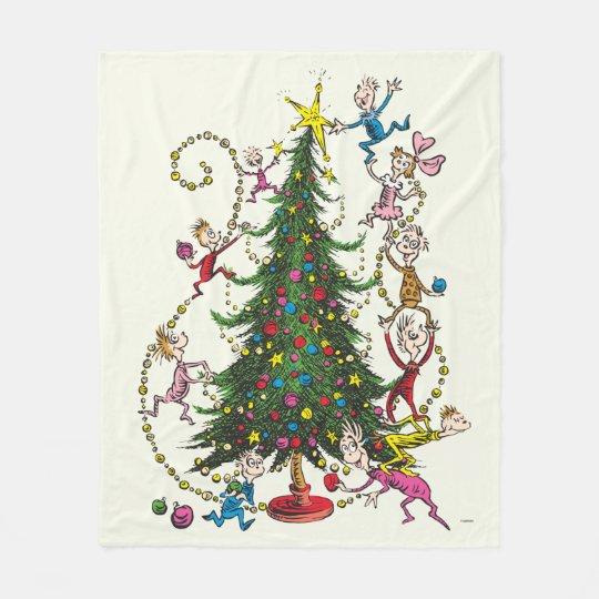 The Grinch Christmas Tree.Classic Grinch Christmas Tree Fleece Blanket
