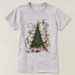 "Classic Grinch | Christmas Tree T-Shirt<br><div class=""desc"">The holidays will not be complete without The Grinch!  HOW THE GRINCH STOLE CHRISTMAS is a classic story of a town called Who-ville and how the Christmas spirit can melt even the coldest of hearts.</div>"