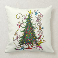 Classic Grinch | Christmas Tree Throw Pillow