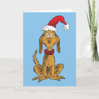 Classic Grinch | Max - Santa Hat Holiday Card