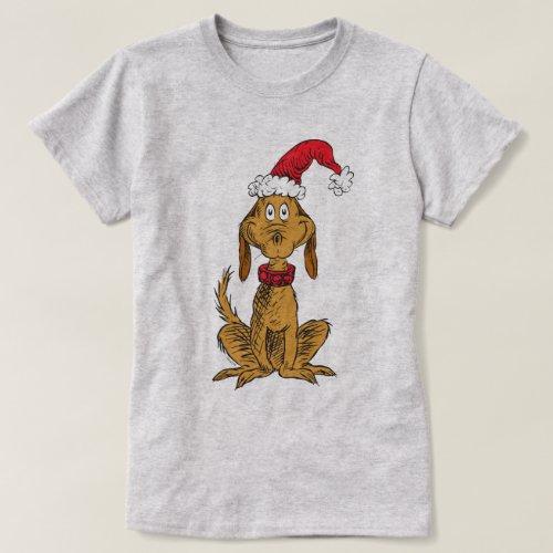 Classic Grinch  Max _ Santa Hat T_Shirt