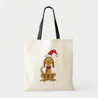 Classic Grinch | Max - Santa Hat Tote Bag