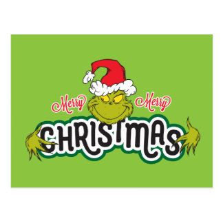 Classic Grinch | Merry Merry Christmas Postcard