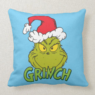 Classic Grinch | Naughty or Nice Throw Pillow