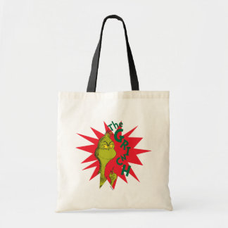 Classic Grinch | Red Starburst Tote Bag
