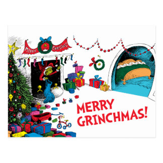 Classic Grinch | The Grinch in Chimney Postcard