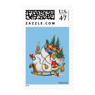 Classic Grinch | The Grinch & Max with Sleigh Postage