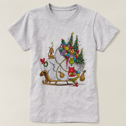 Classic Grinch  The Grinch  Max with Sleigh T_Shirt