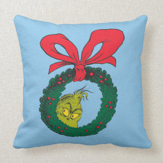 Classic Grinch | Wreath Throw Pillow